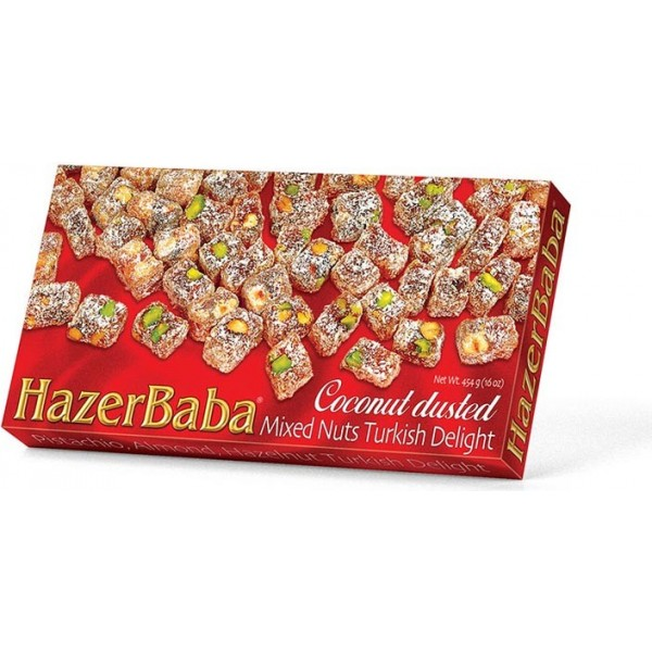 Coconut Dusted Mixed Nuts Turkish Delight Hazer Baba