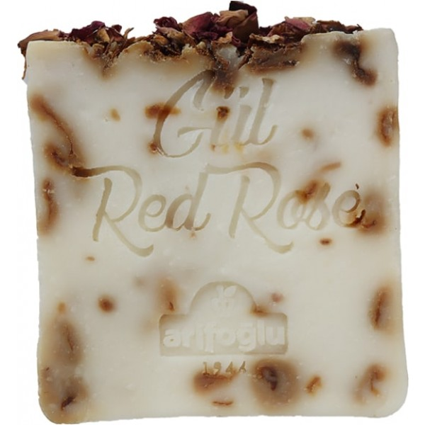 organic red rose oil soap
