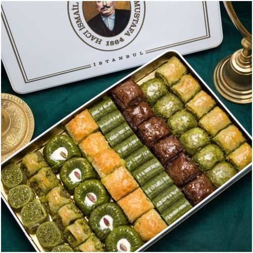 Assorted Baklava in Metal Box, 2kg