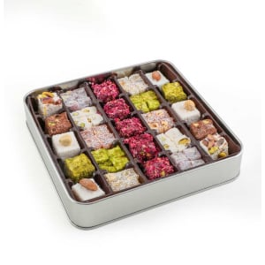 Assorted Turkish Delights with Metal Box, Haci Serif, 500g