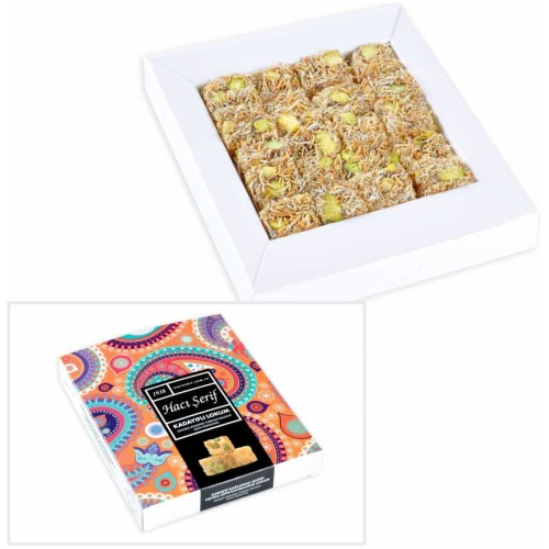 Kadayifi Turkish Delight with Pistachio, Haci Serif, 125g