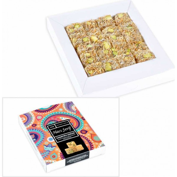 Kadayifi Turkish Delight مع الفستق ، هاسي سريف ، 125g