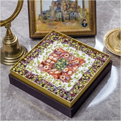 Assorted Mosaic Turkish Delight Box,