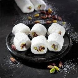 Sultan Turkish Delight with Pistachio and Coconut