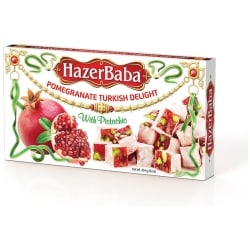 Pomegranate Turkish Delight with Pistachio, Hazer Baba