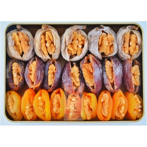 Assorted Dried Fruits with Nuts, 500g-18oz