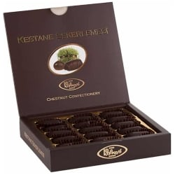 Chocolate Covered Candied Chestnuts, Kafkas, 280g - 9.9oz