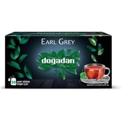 Dogadan Earl Grey, Tea Glass Sachets Tea, 50 Sachets