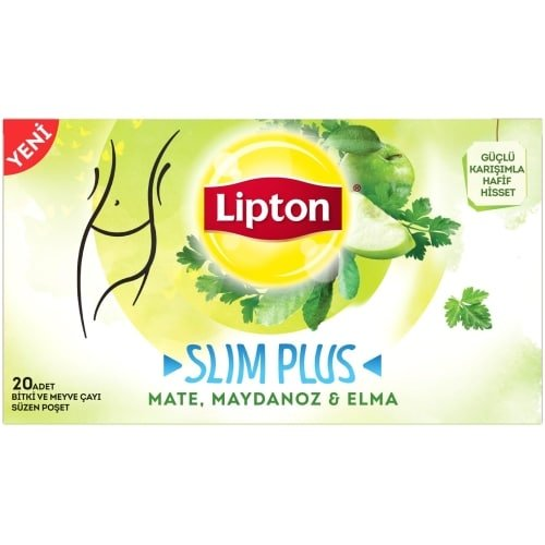 Lipton Slim Plus Mate, Parsley and Apple Tea, 20 Sachets