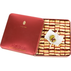 Premium Turkish Delight box with ruby brooch